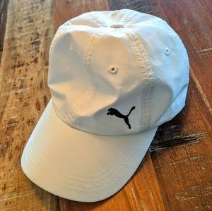 Puma White Adjustable Cap EUC